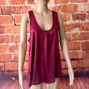 Beautiful Berry Color Vans Sz M sleeveless top